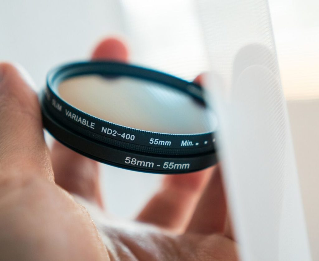 A person holding Best ND Filter for Landscape Photography