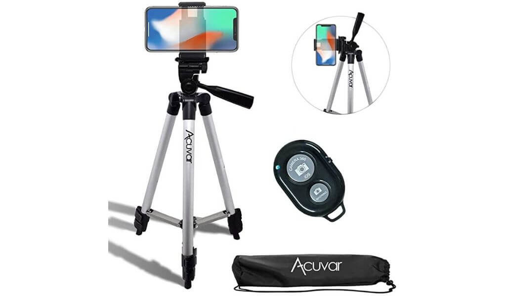 19.2 Can Accommodate Fast-Moving Gimbal Mobile Phone Camera Stabilizer Suitable for Smart Phones,Gold Jonly Mobile Phone Camera Tripod
