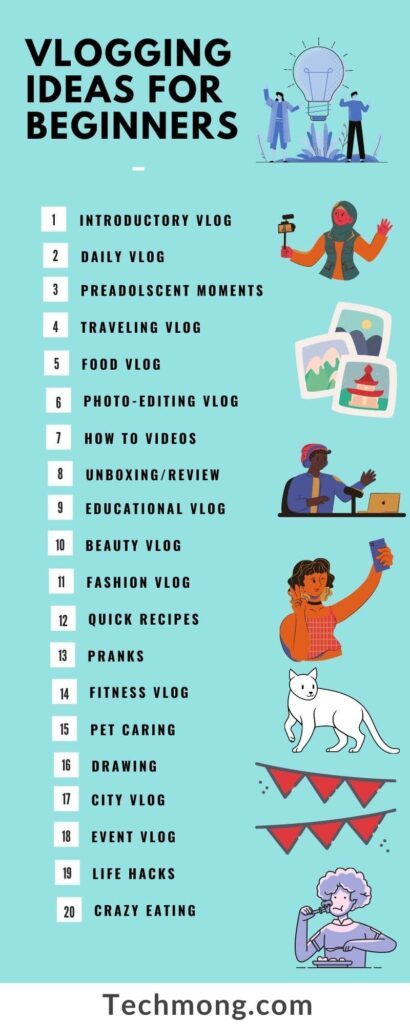 List of 20 vlogging ideas for beginners during quarantine